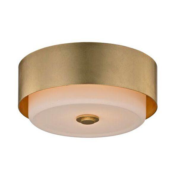 Nina Gold Leaf Two-Light 13-Inch Round Flush Mount, image 1