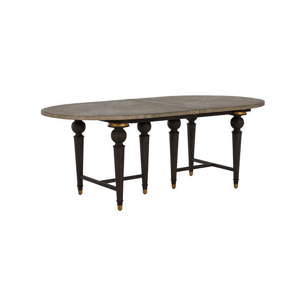 Roderick Light Blonde and Dark Brown Dining Table, image 2