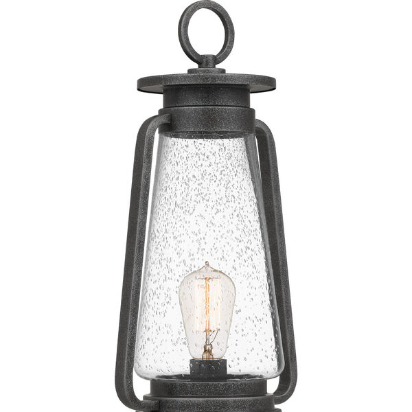 Sutton Speckled Black One-Light Outdoor Post Mount, image 6