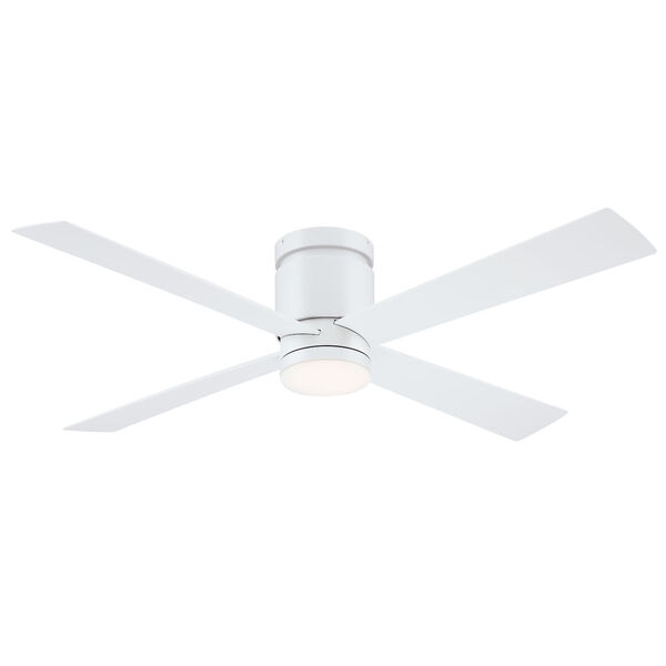 Kwartet Matte White 52-Inch LED Indoor Outdoor Ceiling Fan, image 1