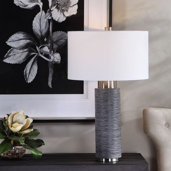 Strathmore Brushed Nickel Table Lamp, image 2