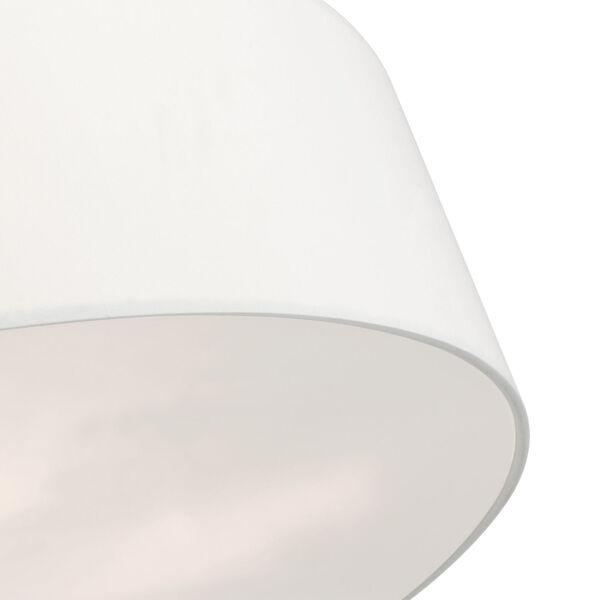 Meridian Off White 30-Inch Six-Light Semi-Flush Mount, image 6