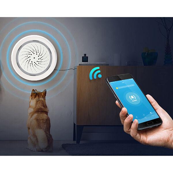 Black and White Smart Wi-Fi Indoor Garage Security Kit, image 4