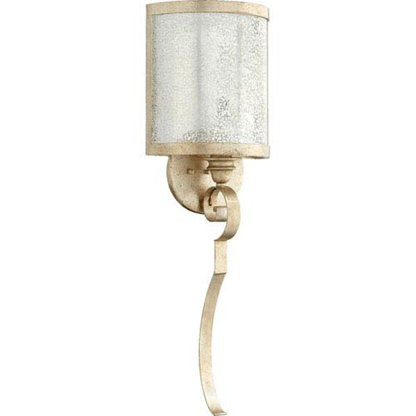 Bloomfield Aged Silver Leaf One-Light Wall Sconce, image 1