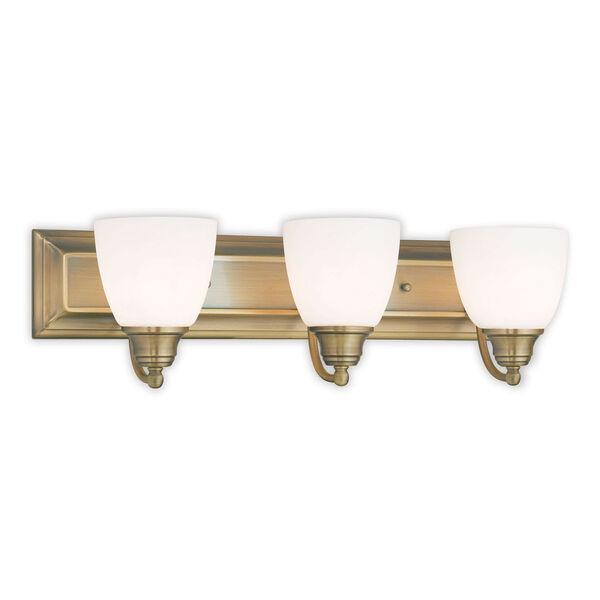 Springfield Antique Brass 24-Inch Three-Light Bath Light, image 1