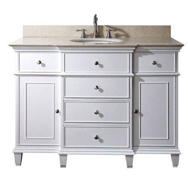 Windsor 48-Inch Vanity Only in White Finish, image 1