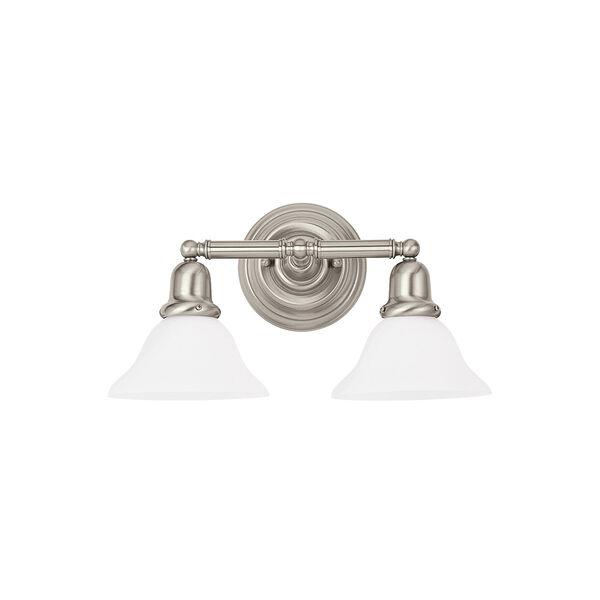 Sussex Brushed Nickel Energy Star Two-Light LED Bath Vanity, image 1