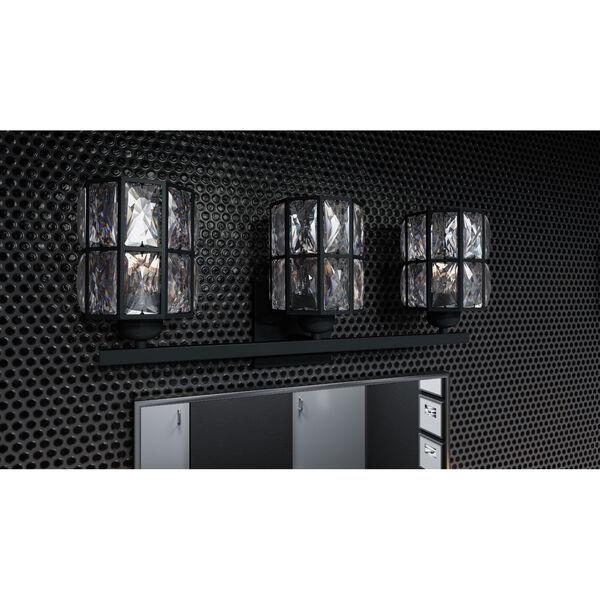 Gibson Matte Black Three-Light Bath Vanity, image 2