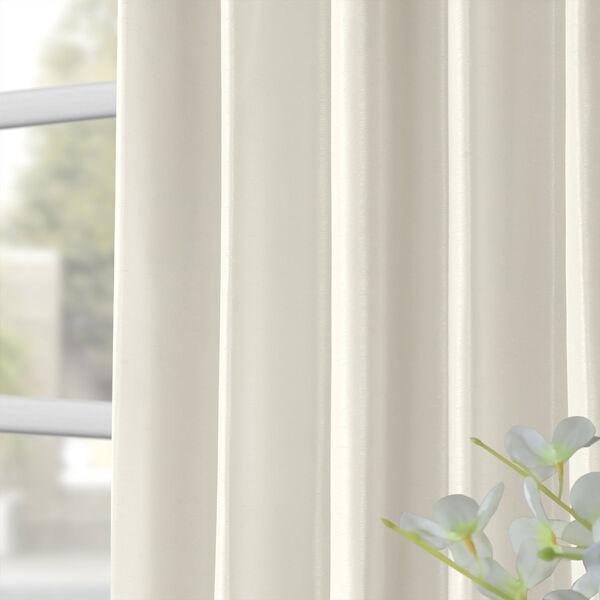 Off White Vintage Textured Faux Dupioni Silk Single Panel Curtain, 50 X 96, image 8