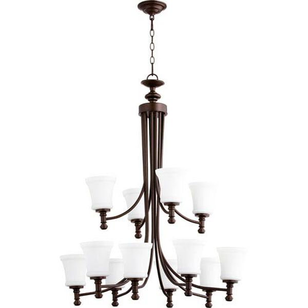 Atherton Oiled Bronze 35-Inch 12-Light Chandelier, image 1
