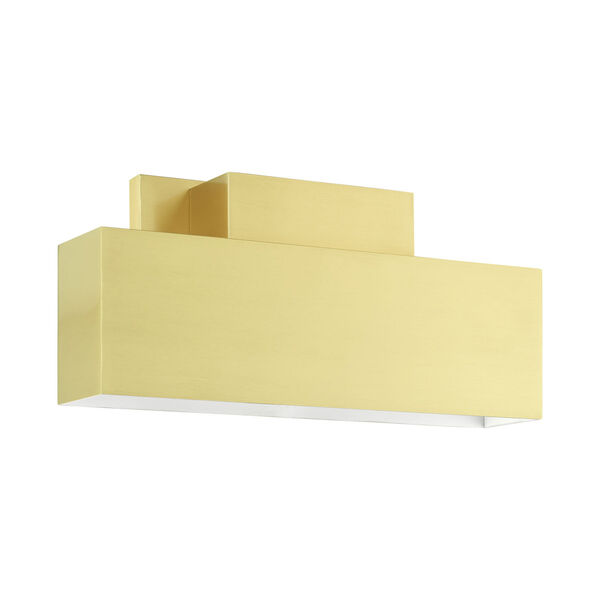 Lynx Satin Brass Two-Light Outdoor ADA Wall Sconce, image 2