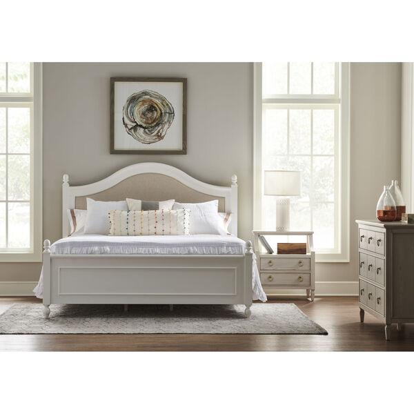 Gray One-Drawer Wood Nightstand, image 2
