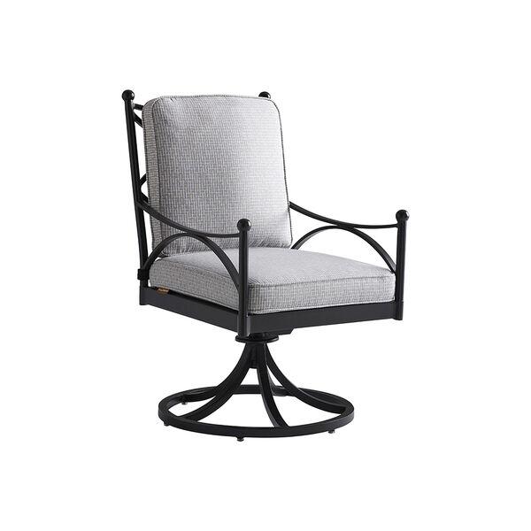 Pavlova Graphite and Gray Swivel Rocker Dining Chair, image 1