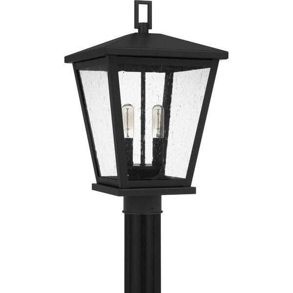 Joffrey Matte Black Two-Light Outdoor Post Mount, image 2