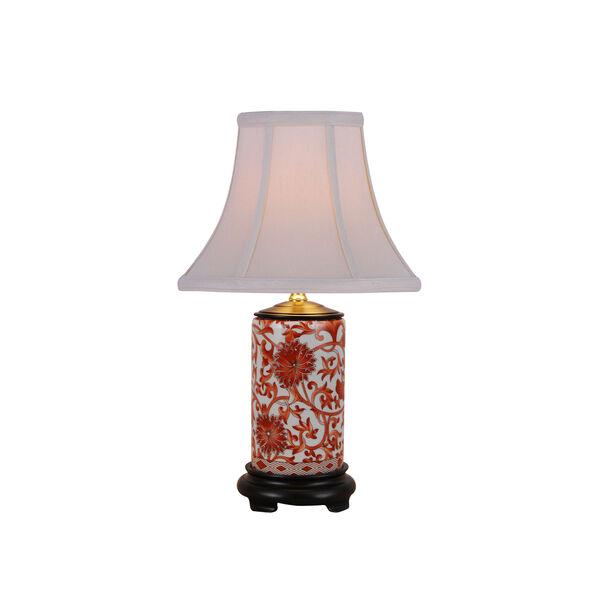 Porcelain Ware One-Light Small Orange Lamp, image 1