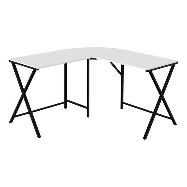 White and Black Computer Desk, image 1