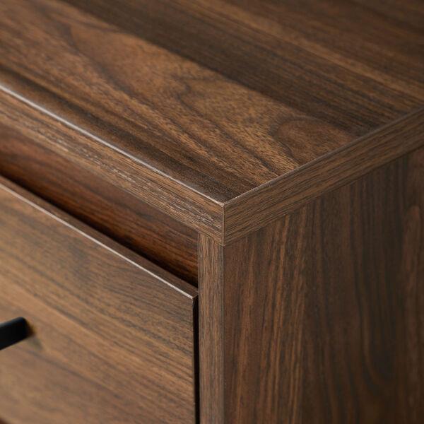 Ingrid Dark Walnut Three Drawer Desk, image 5