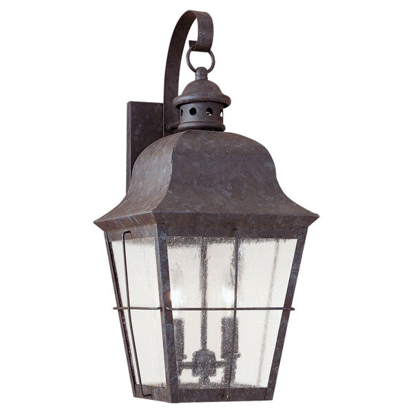 Colonial Bronze Two-Light Outdoor Wall Mount, image 1