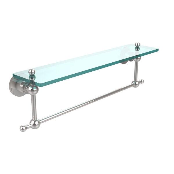 Polished Chrome-Inch Single Shelf with Towel Bar, image 1