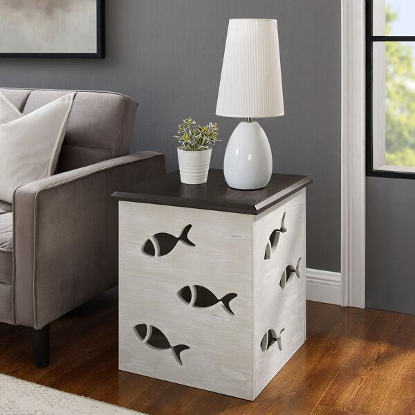 Camila Cream Square Fish Table, image 1