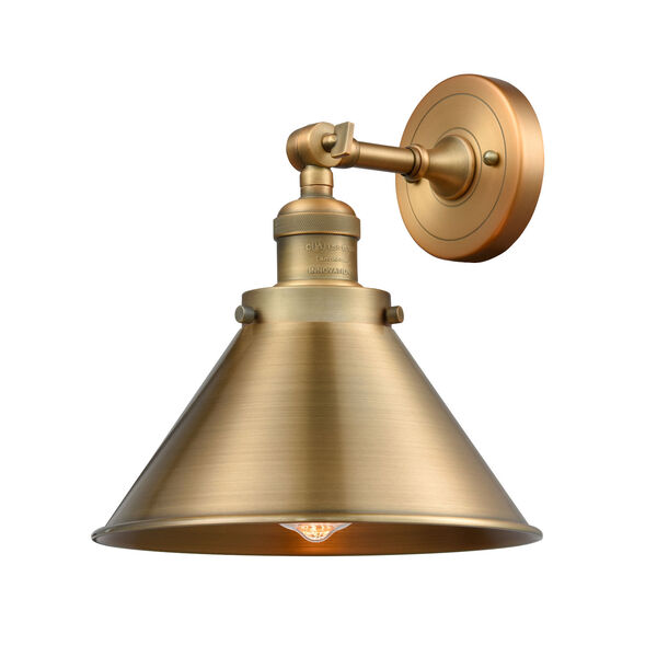 Briarcliff Brushed Brass One-Light Wall Sconce, image 1