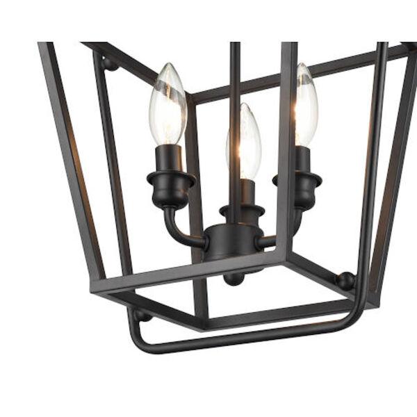 Kate Matte Black Three-Light Pendant, image 2