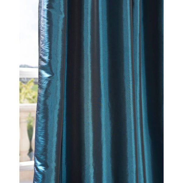 Mediterranean 108 x 50-Inch Blackout Faux Silk Taffeta Curtain Single Panel, image 5
