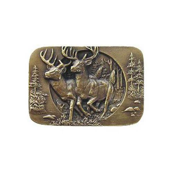 Antique Brass Bucks On The Run Knob , image 1