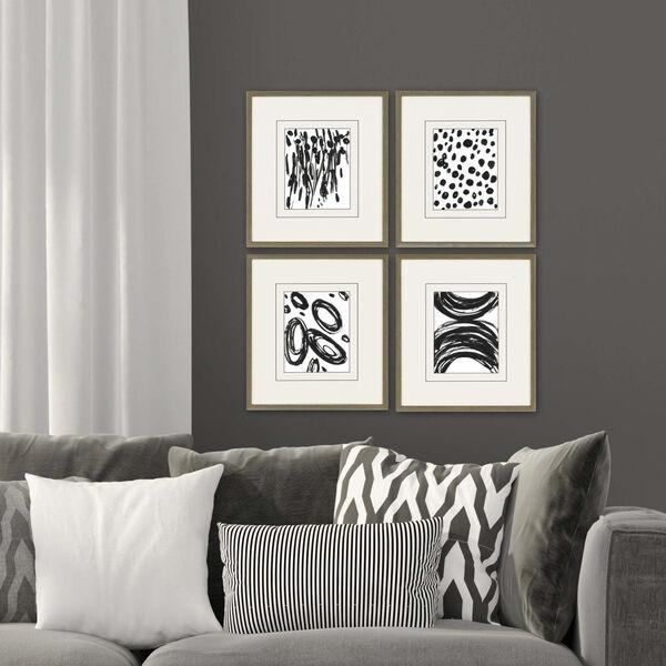 Black 19 H x 17 W-Inch Perception Wall Art, Set of 4, image 1