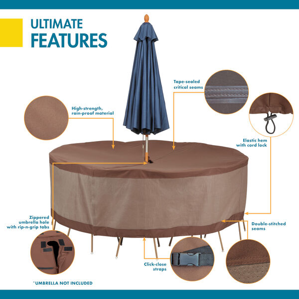 And Chair Set Cover With Umbrella Hole, Round Patio Furniture Covers With Umbrella Hole