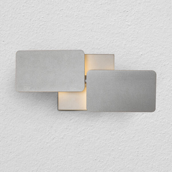 Eclipse Silver Two-Light LED Wall Sconce, image 1