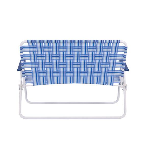 Blue White Web Love Seat, image 2