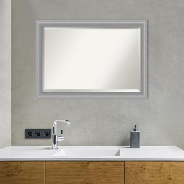 Peak Brushed Nickel 41W X 29H-Inch Bathroom Vanity Wall Mirror, image 5