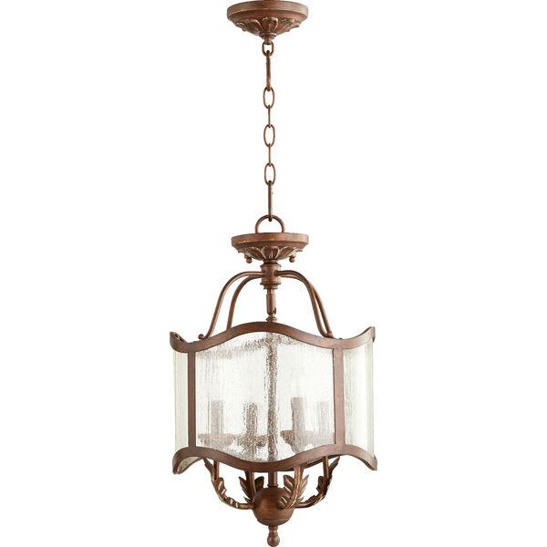 Salento Vintage Copper 13-Inch Four-Light Convertible Pendant, image 1