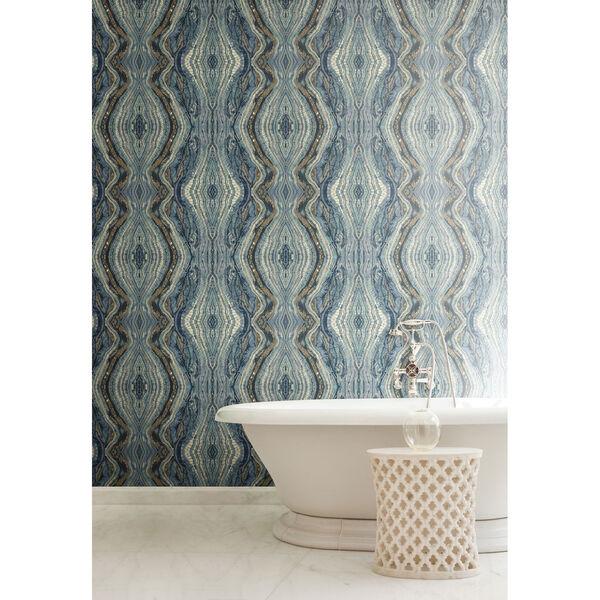 Antonina Vella Blue Kashmir Kaleidoscope Wallpaper, image 5