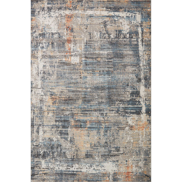 Maeve Slate and Apricot 9 Ft. 3 In. x 13 Ft. Area Rug, image 1