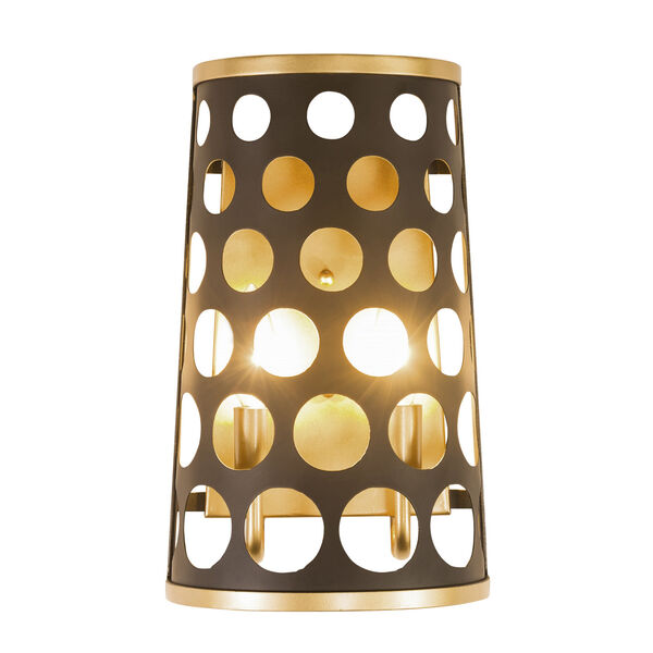 Bailey Matte Black French Gold Two-Light Wall Sconce, image 5