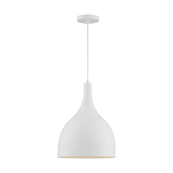Bellcap Matte White 16-Inch One-Light Pendant, image 3