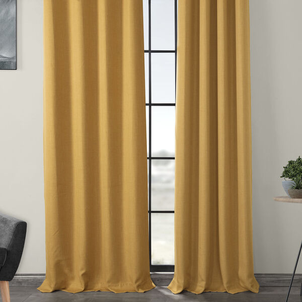 Gold 108 x 50-Inch Polyester Blackout Curtain Single Panel, image 4