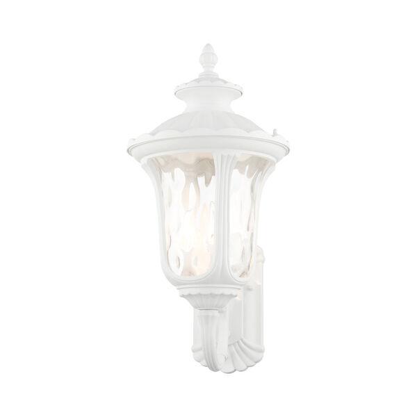 Oxford Textured White Three-Light Outdoor Wall Lantern, image 3