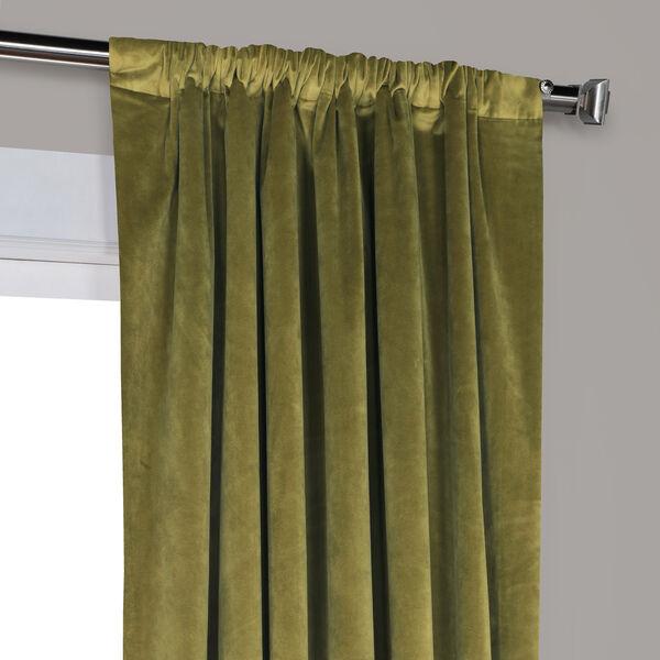 Green 84 x 50 In. Plush Velvet Curtain Single Panel, image 8