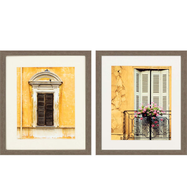 Tre Finestre Yellow Framed Art, Set of Two, image 2