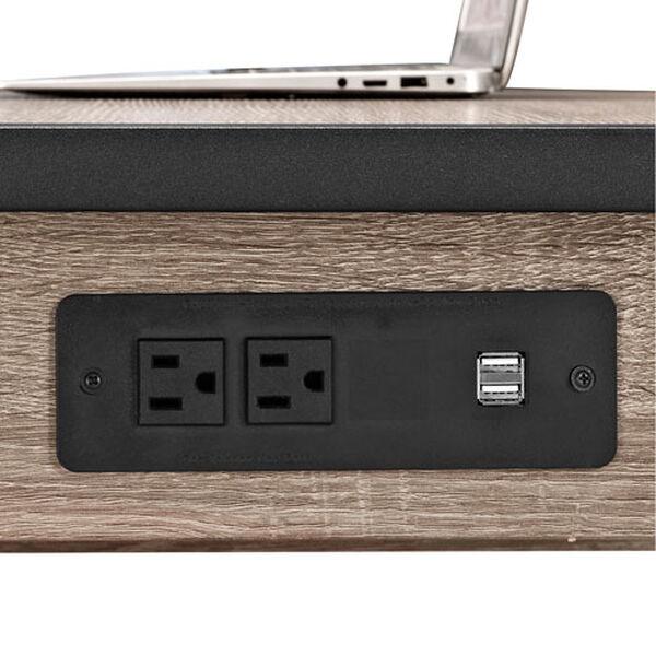 Urban Blend Grey 60-Inch Storage Desk, image 3