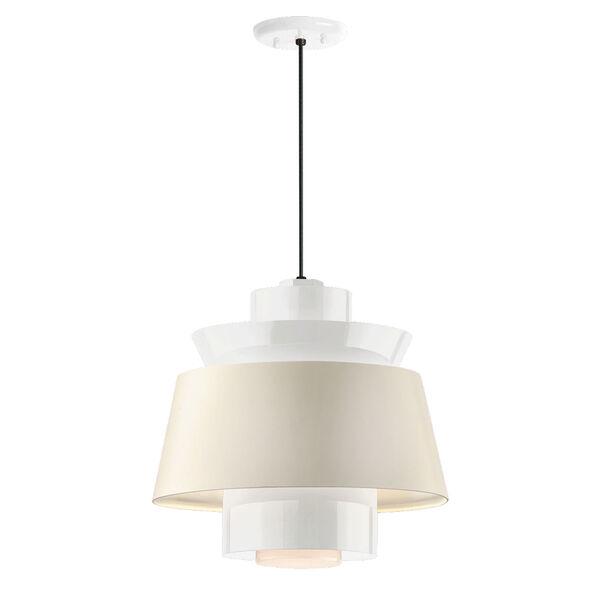 Aero Gloss White LED 14-Inch Pendant, image 1