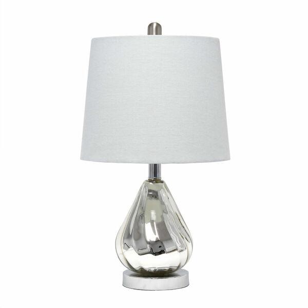 Cerise Chrome Gray One-Light Table Lamp, image 1