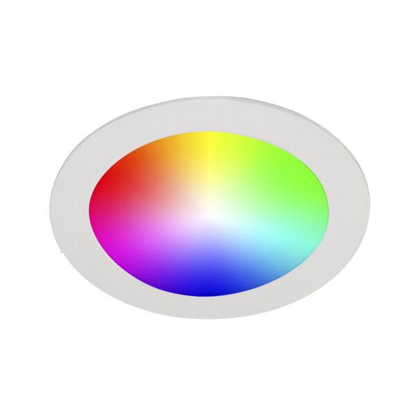 White Wi-Fi RGB LED Recessed Fixture Kit, image 6