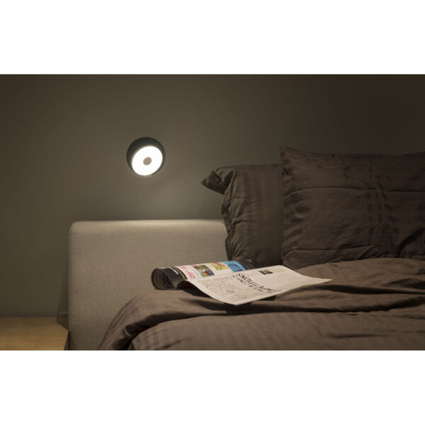 Gravy Chrome Metallic Black LED Plug-In Wall Sconce, image 3