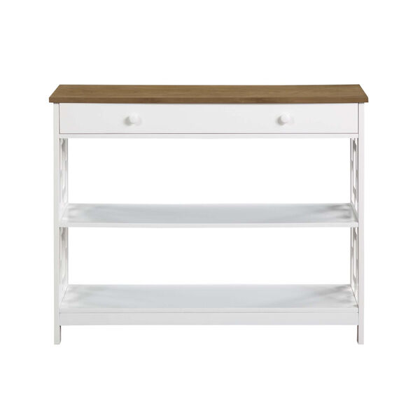 Town Square Driftwood White Accent Console Table, image 4