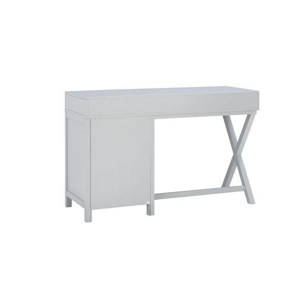 Max Gray Silver Desk, image 4