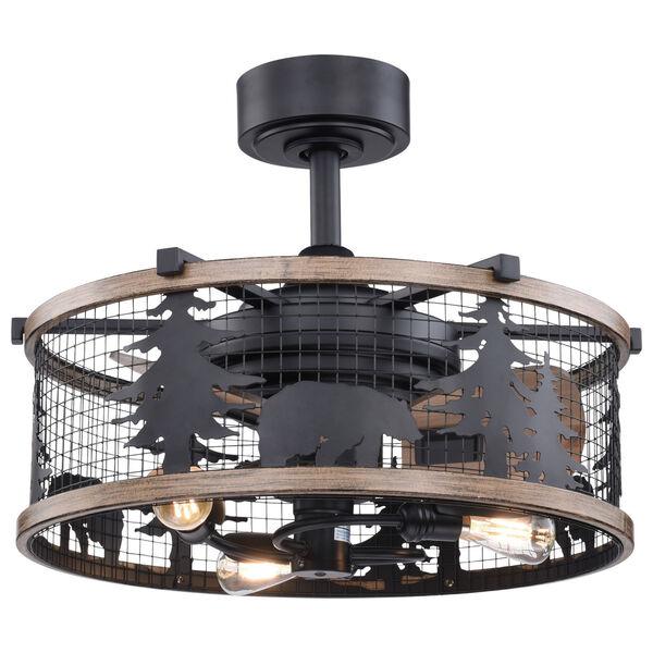Kodiak Oil Rubbed Bronze and Burnished Teak 21-Inch Three-Light Ceiling Fan, image 1